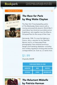 Bookperk email example