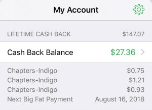 My Ebates Money